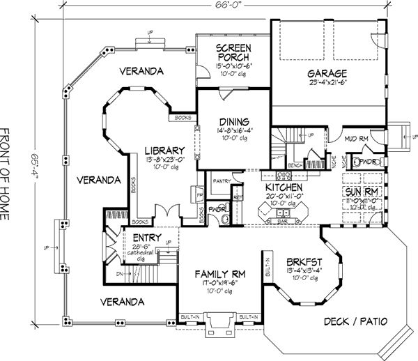Country Victorian House Plan 57563