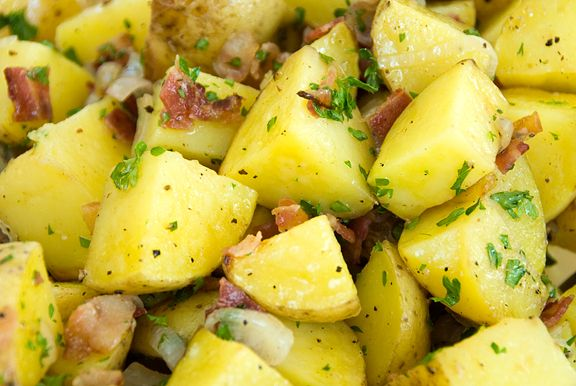 German Roasted Potato Salad | Potatoes | Pinterest