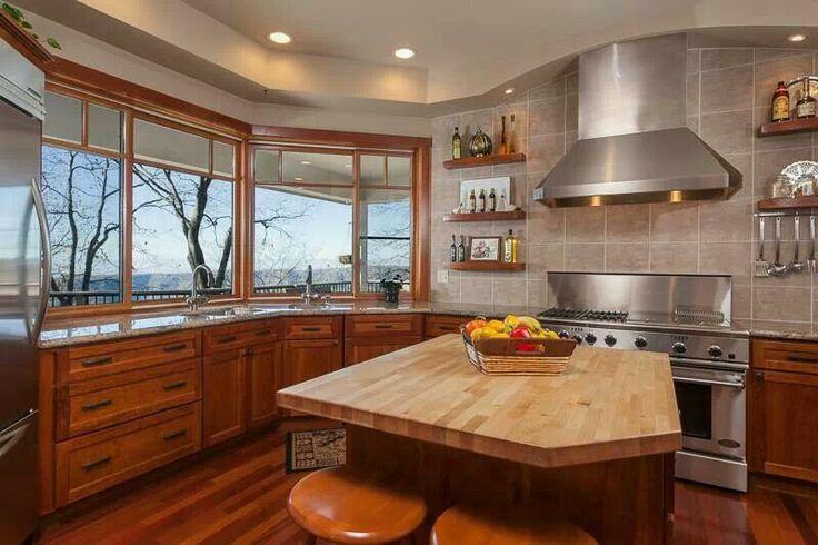 Best Kitchen No Upper Cabinets Love Kitchen Pinterest 640 x 480
