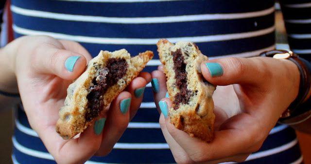 Brownie Stuffed Chocolate Chip Cookies   Desserts   Pinterest