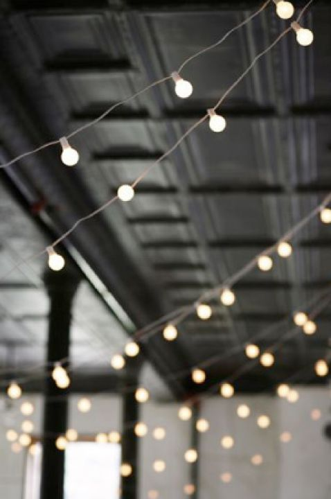 String lights for ceiling decor. Wedding Pinterest