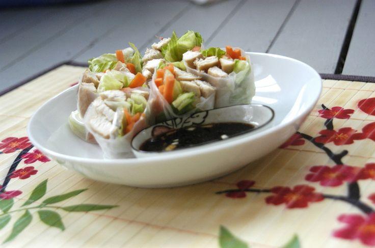 Garlic Chicken Spring Rolls | Ethnic Dishes | Pinterest