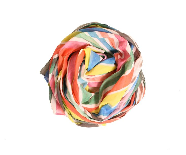 Ice Pop Striped Scarf- Kindah Khalidy | My Style | Pinterest