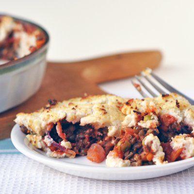 Shepherd's pie....lightened up! | Thanksgiving | Pinterest