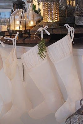 pretty white Christmas stockings  (I want something simple like this)