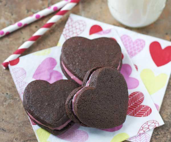 Valentine's Recipe: Chocolate Heart Sandwich Cookies with Raspberry ...