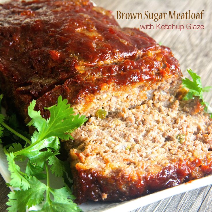 Brown Sugar Meatloaf with Ketchup Glaze was made with crushed garlic ...