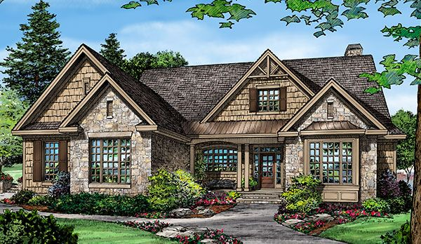 Plan of the week the bosworth 1328 island kitchen walk for Donald a gardner craftsman house plans