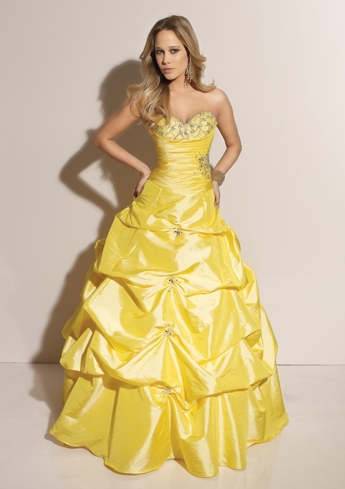 Yellow Bell Prom Dresses 54