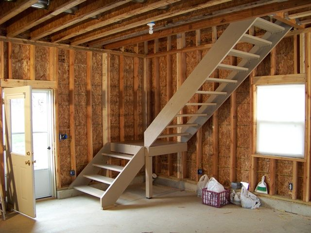 Framing the interior of a new home building pinterest First step to building a house