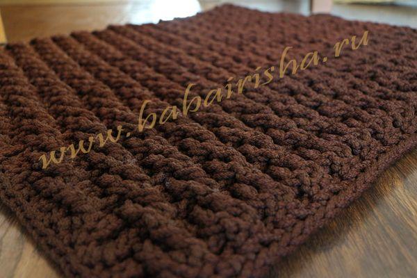 Вязание покрывала из шнура 31