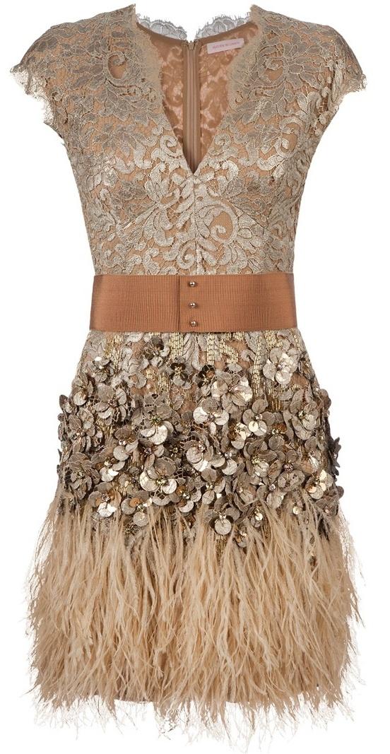 Beige dress from Matthew Williamson