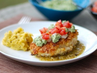 Corn-Tortilla-Crusted Chicken Tenders Recipe — Dishmaps