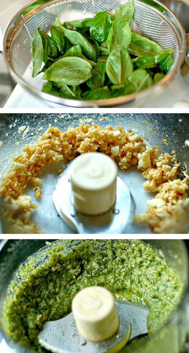 This easy Basic Basil Pesto is a great addition to pasta, salads ...