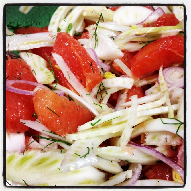 SHAVED FENNEL AND GRAPEFRUIT SALAD - SmittenFoodie.com