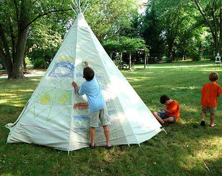 Fun Outdoor Crafts for Kids: Backyard Teepee