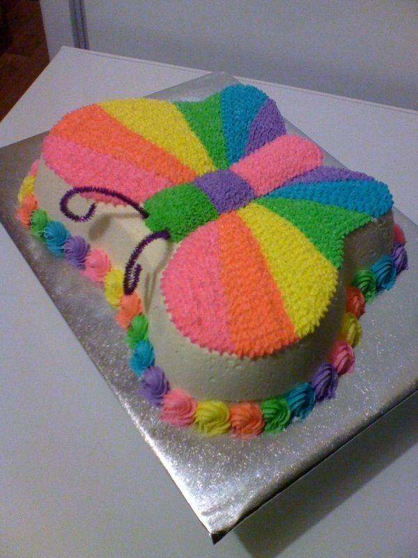rainbow butterfly cake | Emory's birthday | Pinterest