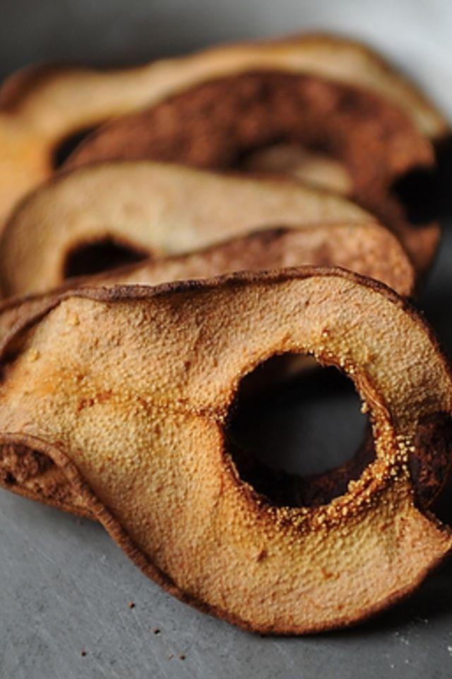 Cocoa Pear Crisps Recipe — Dishmaps