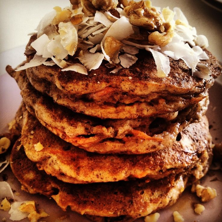 ... know they are good for you. Paleo carrot cake pancakes. #glutenfree