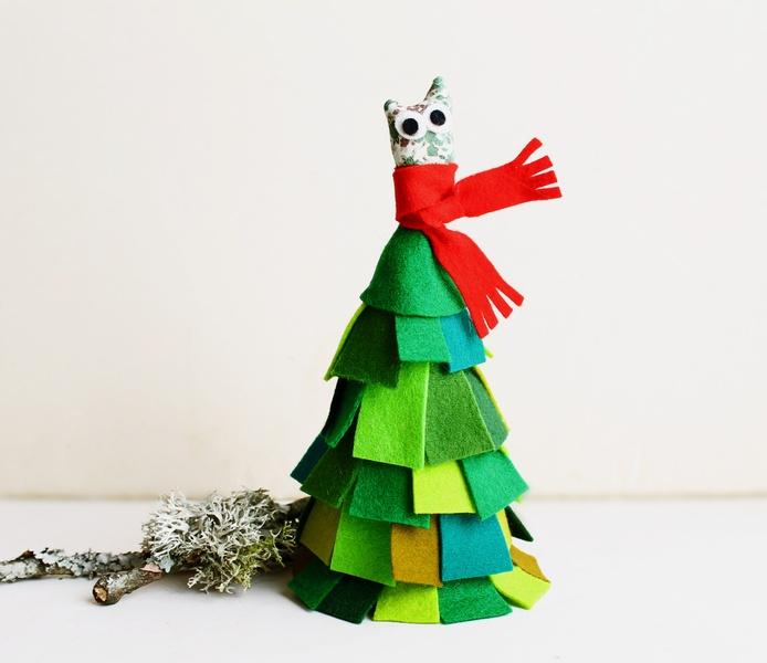 Arbol de navidad peque o abeto en fieltro for Arbol de navidad pequeno
