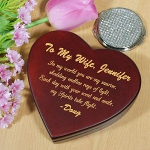 valentine day heart box