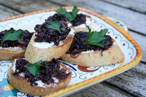 Bruschetta With Radicchio And Goat Cheese