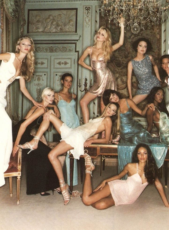Haha What if you walked into a room and these women were all standing like this. Models...when do you ever make that pose/face in real life? neva unless you're really drunk and joking.