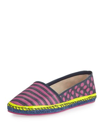 Shop now: Sophia Webster Juana Striped Espadrille