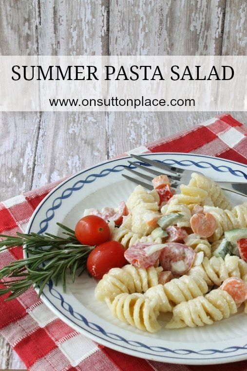 Summer Pasta Salad ~ Easy side dish perfect for a picnic!