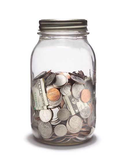 A good ol' fashioned coin jar - save for that family holiday!