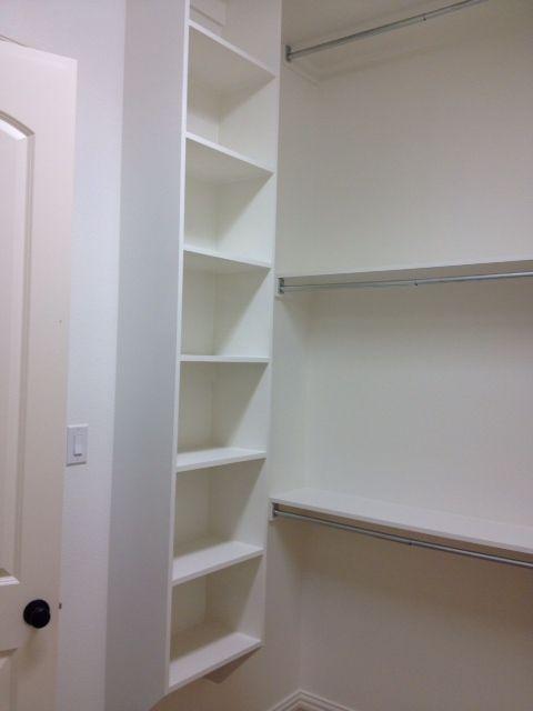 Shoe storage master bathroom closet ideas pinterest for Bathroom closet shelving ideas