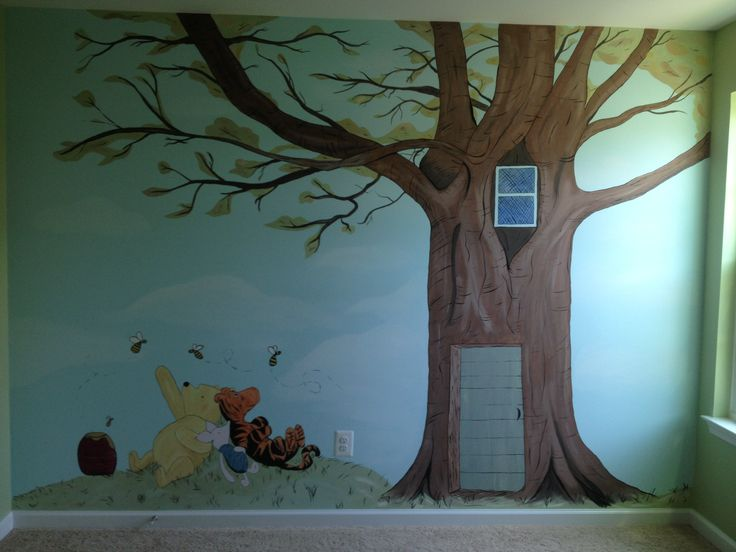 classic winnie the pooh nursery wall mural baby terrazas ForClassic Pooh Wall Mural