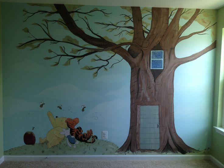 classic winnie the pooh nursery wall mural baby terrazas