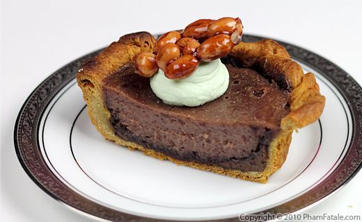 Chocolate Pie Recipe with Picture   Asian Sweets   Pinterest