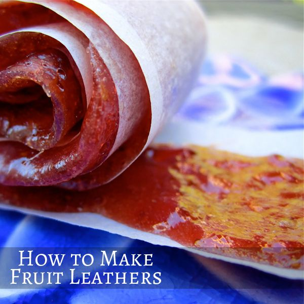 How to Make Fruit Leathers | Sweets | Pinterest
