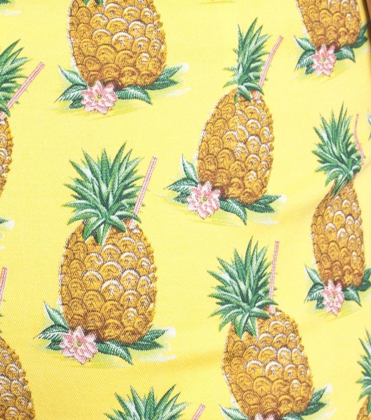 pineapple print   Tropical   Pinterest