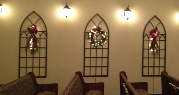 Church Christmas decor, our sanctuary doesn't have windows so I used ...
