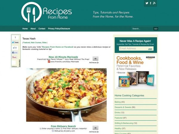 Recipes From Home   What's For Breakfast or Brunch   Pinterest