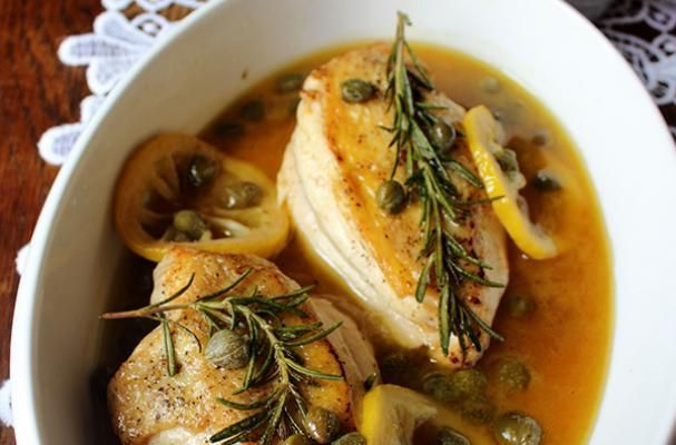 Chicken with Lemon and Capers. It is a simple but delicious meal ...