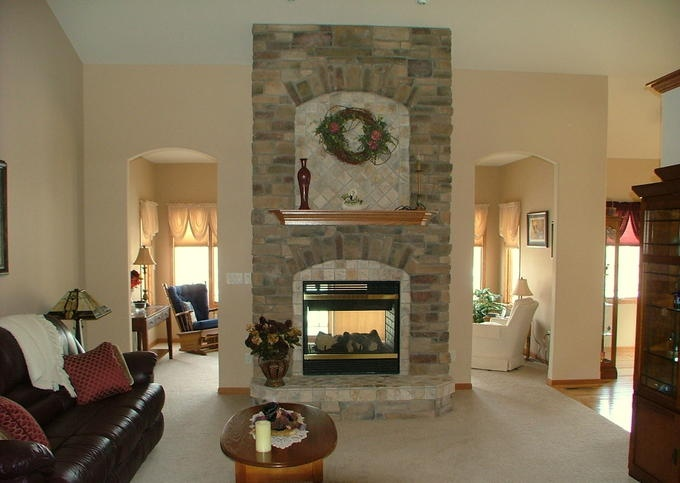 See through fireplace craft pinterest for See thru fireplaces