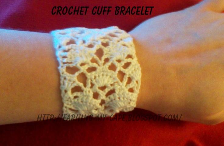 Earning My Cape: Gilded Fans Crochet Cuff Bracelet