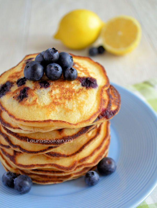 Lemon Blueberry Pancakes Recipe — Dishmaps