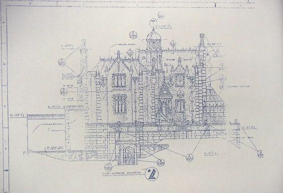 Walt Disney World Haunted Mansion Elevation Blueprint