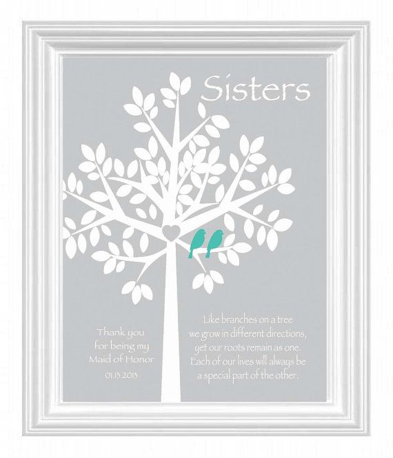 Unique Wedding Gifts Sister : Sisters Personalized GiftMaid of Honor Gift Wedding Gift for Sister ...