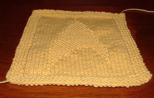 Knitted Dishcloth Pattern With Star : star trek dishcloth Knitting--Dishcloths Pinterest