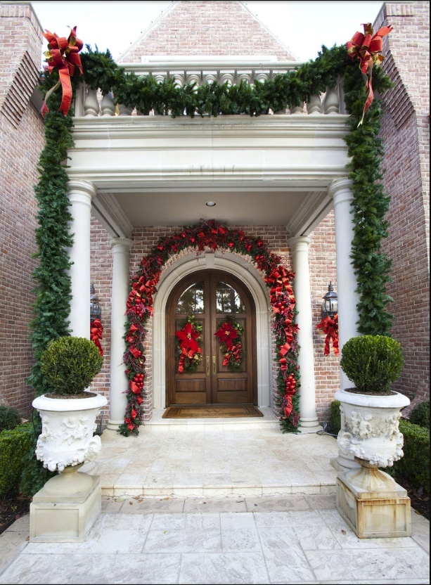 Christmas Decorations For Neighborhood Entrances : Christmas entry decor entrances