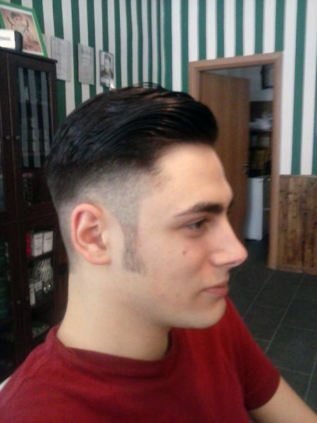 Low fade with long sideburns | Barber Shop | Pinterest