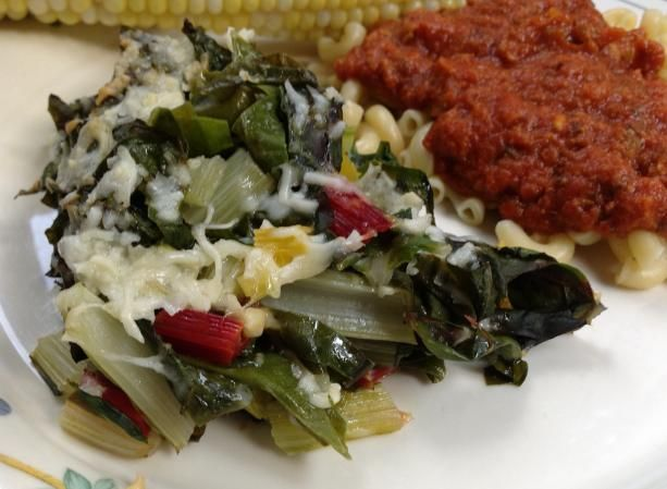 Baked Swiss Chard With Olive Oil and Parmesan   Recipe