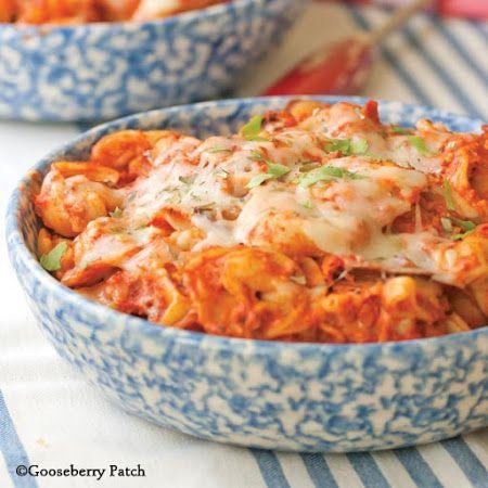Cheesy Baked Tortellini   Food   Pinterest