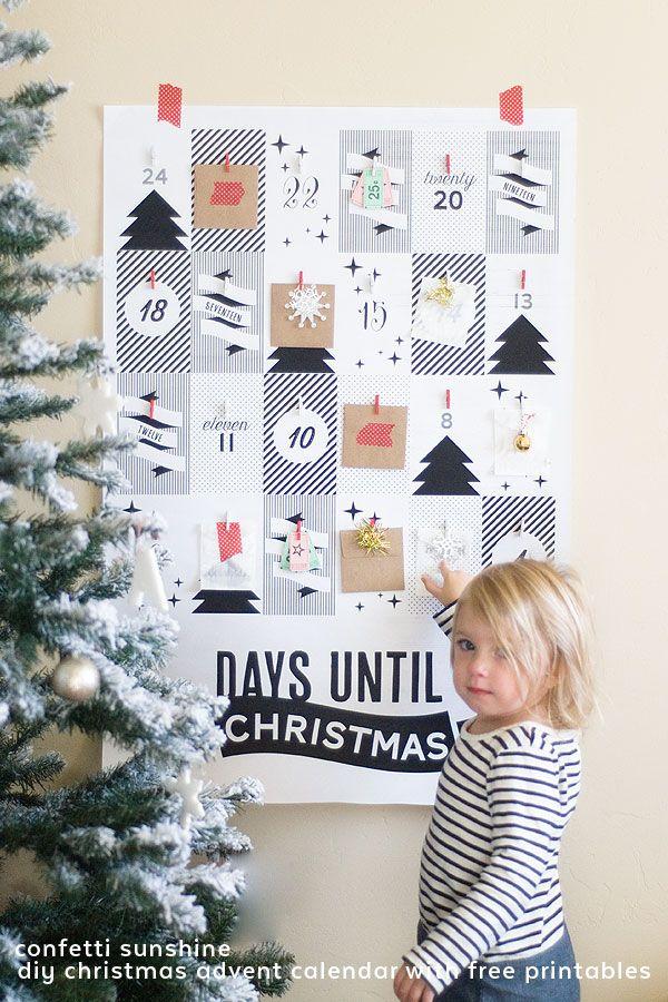 DIY Christmas Advent Calendar with Free Printables